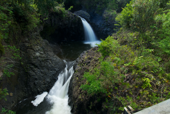 Quad Falls on the way up to Waimoku Falls