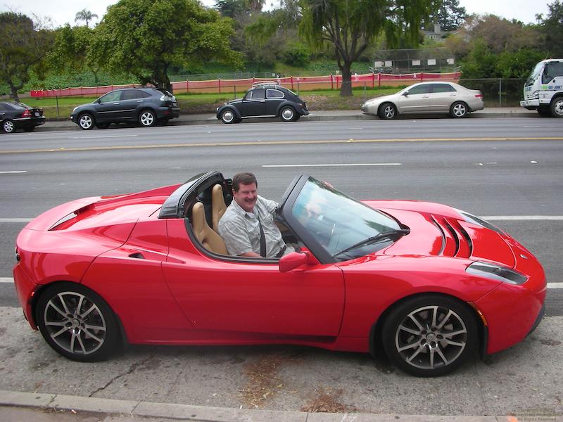 Taking the Tesla to pick up my rental car