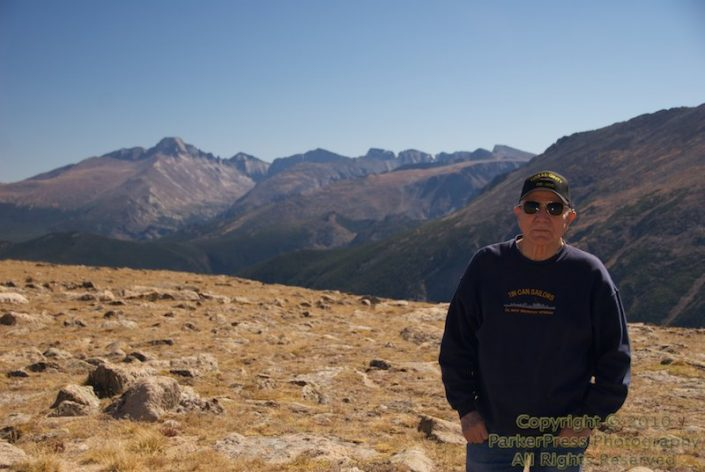 At the top of RMNP, with Longs Peak in the background