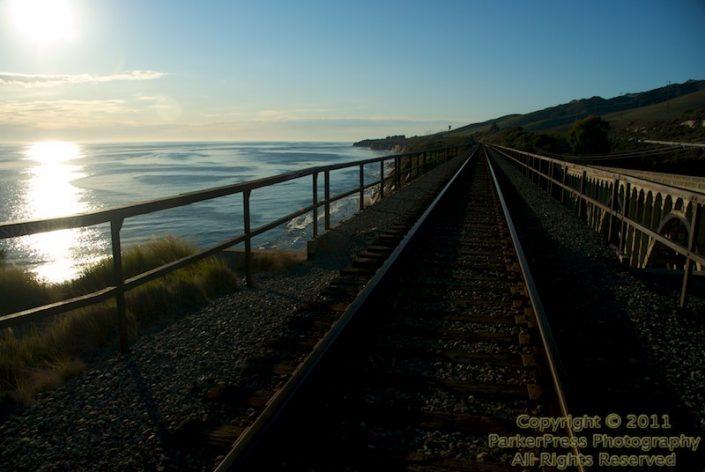 The train bridge at Arroyo Honda Creek