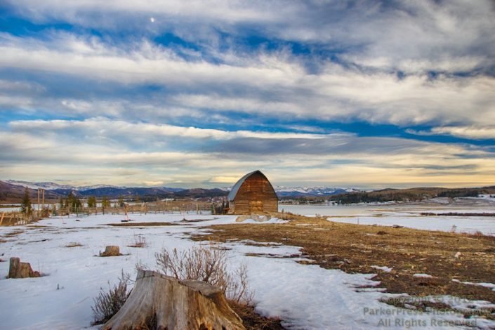 HDR of Fetcher Barn at Steamboat Lake